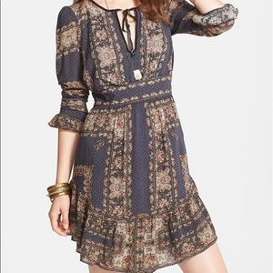 👗Free People 'Bridgette' print ruffle dress👗